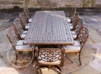 Casino 10 Seater Rectangle Table and Chairs 'set'