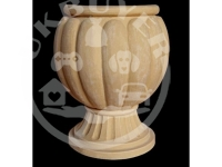 Artificial Sandstone Pumpkin Shape Carved Flowerpot