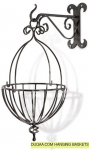 Elegant Design Hanging Basket With Wall Hook